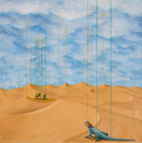 Et le Ciel créa la Terre90 cm x 90 cmHuile sur toile© Didier Moens